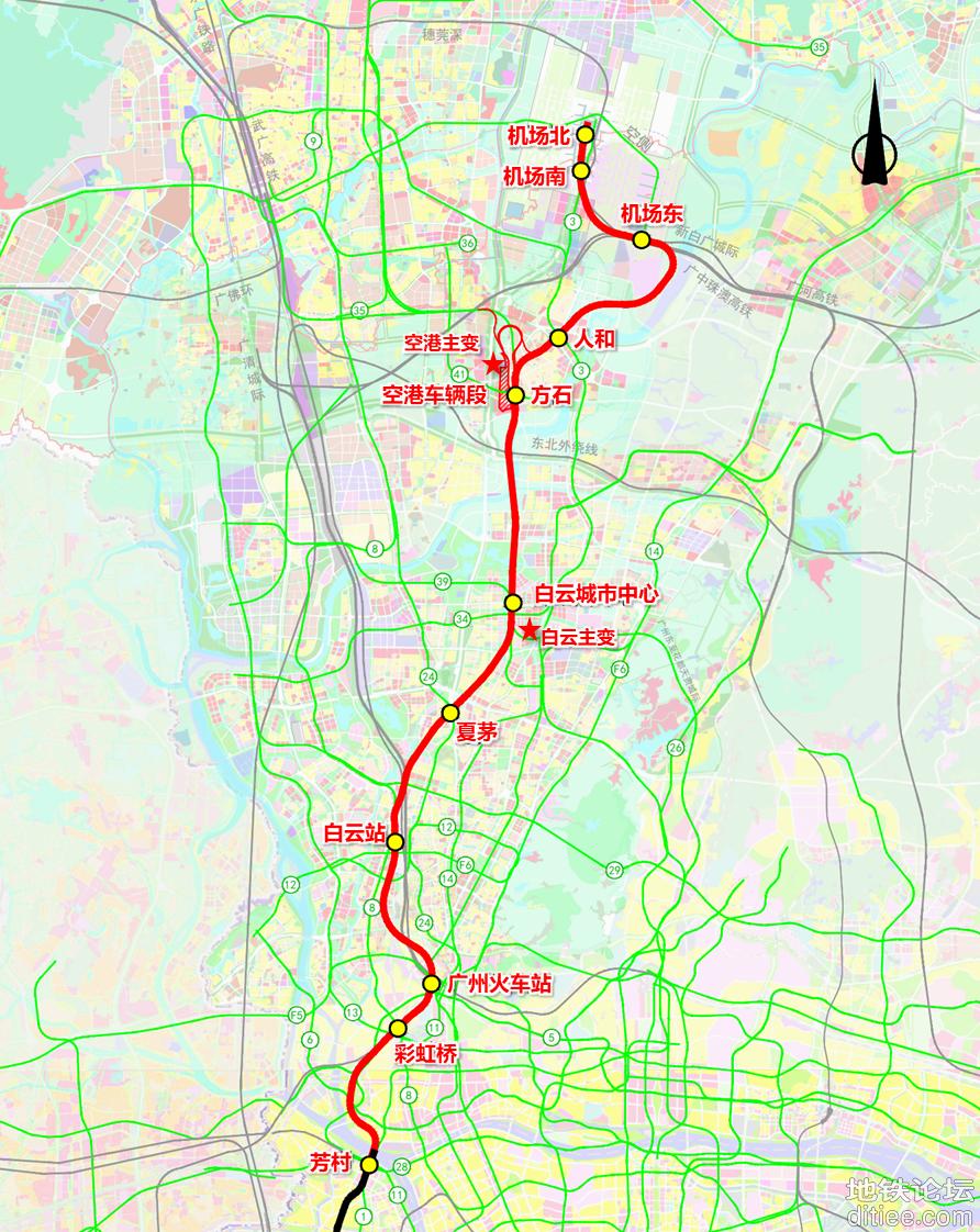 广州18号线北延段先行用地开工仪式拟于近期在空港车辆段...