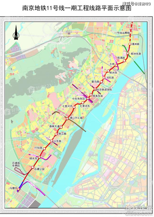 南京地铁11号线预计10月进入施工阶段